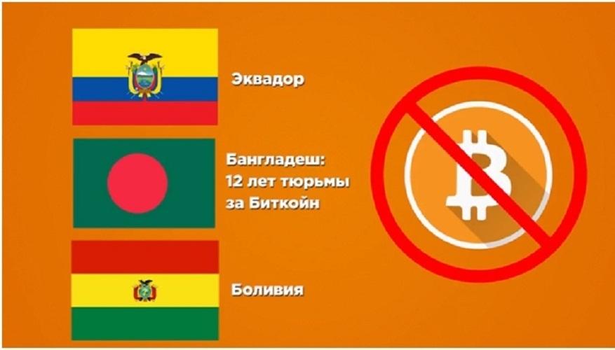 bitkoin zapreshchen v Bolivii, Ekvadore, Bangladesh