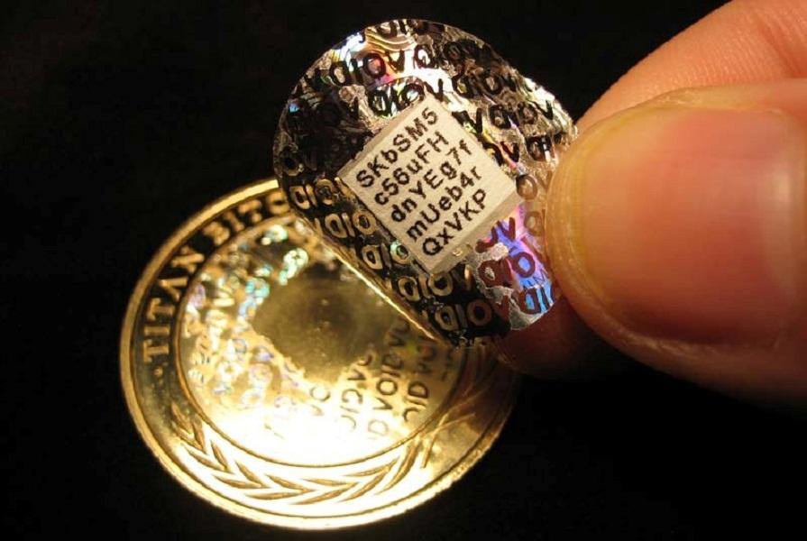 galogramma bitkoin-monety Casascius