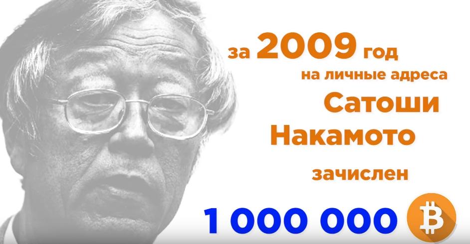 u satoshi nakamoto 1 mln bitkoinov