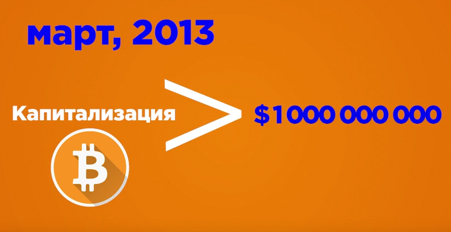 v marte 2013 goda kapitalizaciya bitkoina vpervye prevyshaet 1 mlrd dollarov