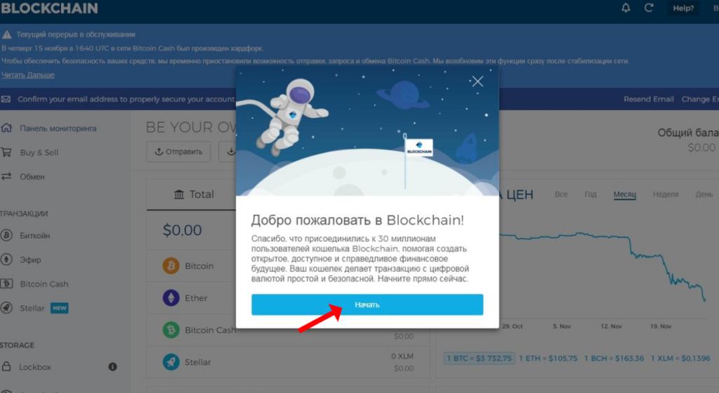 sozdaem bitkoin-koshelek Blockchain shag 5